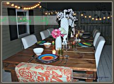 DIY Outdoor Dining Table From Wood Pallets- Under $100