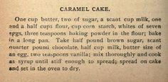 Carmel Cake from 1889
