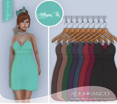 Hello my darlings, A&CO has moved to a new and more pretty location,take a landmark to grab this week Lazy Sunday release a super sweet dress at 75Ls only. http://maps.secondlife.com/secondlife/MyFashion/66/251/22