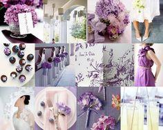 purple hydrangea party board