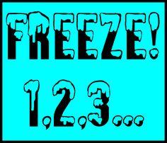 Freeze! With a little twist! as seen on Fifth Grade Flock    www.fifthgradeflock.com