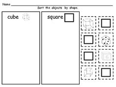 **FREE** Shapes Sorting Pages :)
