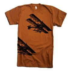 Mens Vintage Fighter Planes T Shirt  American Apparel by lastearth, $19.00