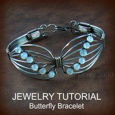 Wire Jewelry Tutorials | JEWELRY TUTORIAL Butterfly Wire Wrapped Bracelet by FrancescaLynn