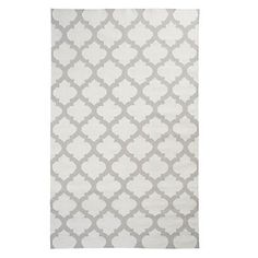 Grey quatrefoil outlined white Casablanca Dhurrie Rug, $149.95 - $499.95 #ZGalelrie