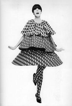 Peggy Moffitt wearing Rudi Gernreich