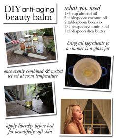 DIY Anti-Aging Beauty Balm