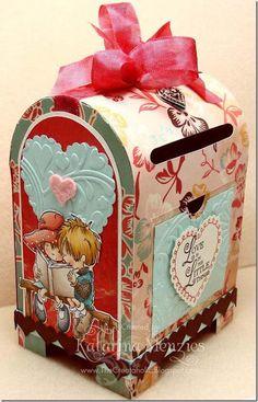 valentine box, galleries, stamp, valentin mailbox, craft idea, mail box kids, paper crafts, mail boxes, cards