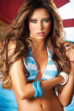 highlighted hair, hair colors, girl fashion, long hair, colombian model, catalina otalvaro, beauti, bikini, eye