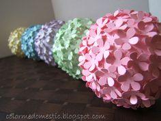 paper flower balls