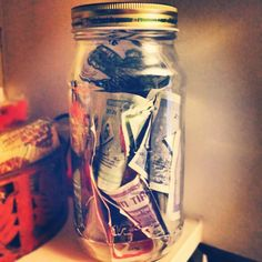 Just ten days after beginning her second collection for Corin, Madison Lewis' jar o' bills is filling up (June 27). The jar was delivered, full, to Corin on August 24!