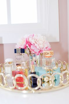 Love this perfume holder tray featuring our fragrance found on Pink Peonies by Rachel Parcell