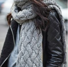 How to Chic: KNIT SCARF