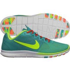 Nike Women's Free Advantage Mesh Caf Training Shoe - Turquoise/Yellow