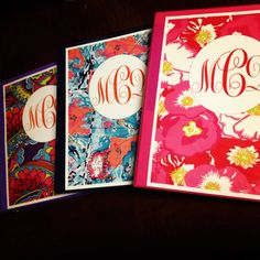 Printable Lilly Monogrammed Binder Covers by MonogrammedBinders on Etsy, $5.00