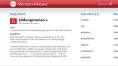Merriam-Webster's Collegiate Dictionary // the app includes a regular dictionary, integrated thesaurus, example sentences, Word of the Day, and Favorites -- along with over 1000 graphical illustrations, and over 20,000 entries covering people, places, and foreign terms. A great tool for reference, education, and vocabulary building. No internet connection is required to view any of the definitions (although you do need a connection to view illustrations and hear audio pronunciations).