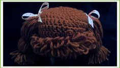 free pattern cabbage patch hat wig | Doll Wig Cabbage Patch Inspired Baby Hat Baby Girl Halloween…