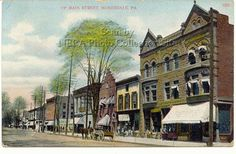 Main Street , Honesdale, Pa....It' changed very little since this was taken