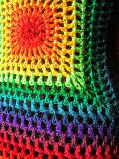 Vintage Style Rainbow Crochet Dress/Vest