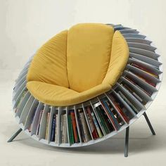 Any office with this chair would be instantly cool! Brought to you by Shoplet.com- everything for your business. books, bookcases, seat, dream, librari, reading chairs, nook, place, design