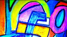 Abstract Art Pastel Mixed Media  by Kat