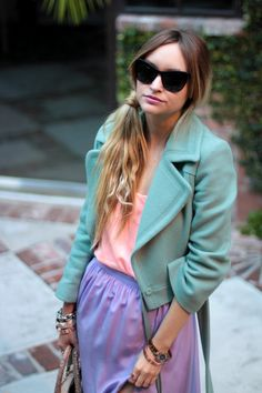 What a beautiful combo of pastels!