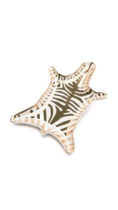 Metallic Zebra Dish   Jonathan Adler