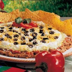 taco dip, sour cream, at home, chicken recipes, bean dip