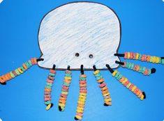 pre k arts and crafts, pre k octopus, octopus math, alphabet letters, ocean pre-k crafts, color preschool theme, letter o crafts, fruits crafts, kid