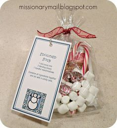 Missionary Mail: Snowstorm in a Box--a bunch of fun Christmas gift ideas for missionaries.