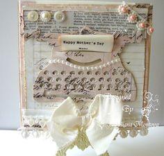 Vintage Typewriter Cards - Using Tim Holtz die; this lady is very talented