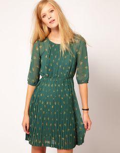 NW3 heart tree printed dress