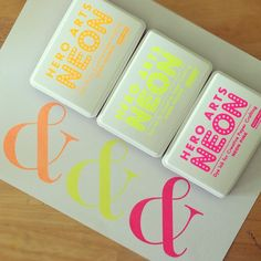 New from Hero Arts this Summer -- Neon Inkpads