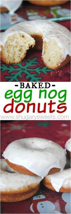 Baked Eggnog Donuts: