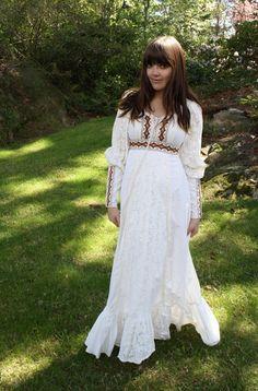 Wedding dress 70s style vintage 70 s bridal pinterest
