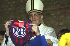 El papa Francisco, un extraordinario golpe de marketing de San Lorenzo - canchallena.com