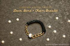 #DIY Loom Band + Chain Bracelet  #tutorial #rainbow_loom #bracelet #diy_jewelry