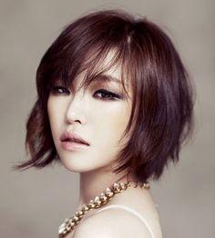 short haircuts, korean makeup, short hair styles, short hairstyles, haircut styles, bob hairstyles, brown eyed girls, short bobs, bob haircuts