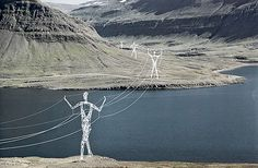 the land of giants: figural powerlines in iceland by choi + shine.