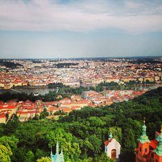View from Petrin hill Prague