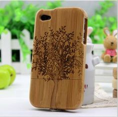 Real Nature bamboo Case iPhone 4 wood case iPhone 4s