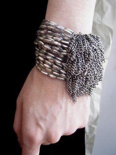 Jean Francois Mimilla clustered chain + minnow bracelet
