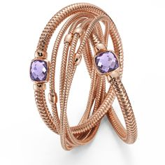 Roberto Coin Bracelet in 18k rose gold with amethyst.