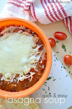 soup recipes, easy lasagna soup