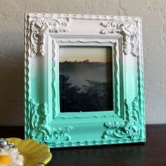 painted ombre picture frames!