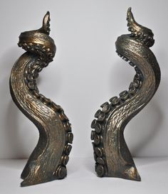 Pair of Tentacle candlestick holders