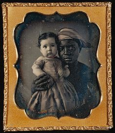 Nurse and child, hand-colored daguerreotype  c.1850
