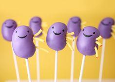 great idea to encourage organ donation! Kidney cake pops!