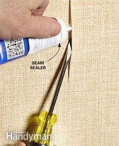 Try this quick fix for a loose wallpaper seam: