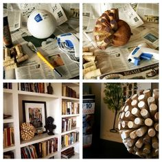 as much as I don't love sit around, knick-knacky crap...this could be an exception! Great way to display corks from meaningful events